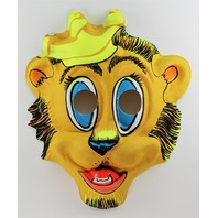 Vintage Crown on Lion King Halloween Cartoon Mask 1970's Y157