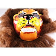 Vintage Collegeville Lion Halloween Mask Jungle Cat Safari 1970's Y153