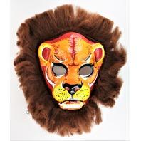 Vintage Collegeville Lion Halloween Mask Jungle Cat Safari 1970's
