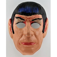 Vintage Collegeville Star Trek Mr. Spock Halloween Mask 1980 Enterprise Kirk