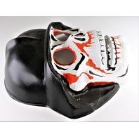Vintage Collegeville Skull and Helmet Halloween Mask 1970s German Kaiser Helmet Skeleton Y144