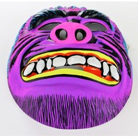 Vintage Purple Monster Halloween Mask Neon 1980's Gorilla Ape Toppstone Y271
