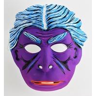 Vintage Dr Jekyll Mr Hyde Toppstone Halloween Mask Purple Monster Y272