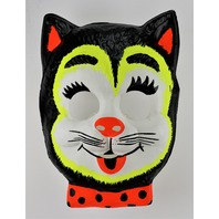 Vintage Cat with Bow Tie Halloween Mask 1960's Toppstone Ben Cooper Collegeville Y225