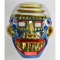Vintage Toppstone Sky Warrior Halloween Mask Aztec Robot Animation Y240