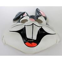 Vintage Looney Tunes Bugs Bunny Collegeville Halloween Mask Warner Bros 1982 Y278