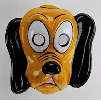 Vintage Walt Disney Pluto Dog Ben Cooper Halloween Mask Mickey Mouse Y178