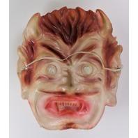 Vintage Rare Crazy Eyed Devil Halloween Mask Demon 1960s Y247