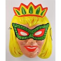 Vintage Ben Cooper Princess Queen Zest Halloween Mask 1970's Y268