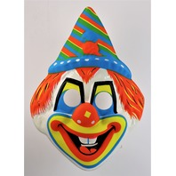 Vintage Clown Halloween Mask Ben Cooper Collegeville Circus Y262