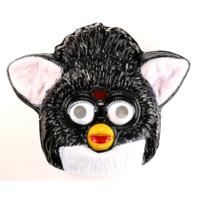 Vintage Tiger Electronics Black Furby Halloween Mask 1990s Hasbro BS