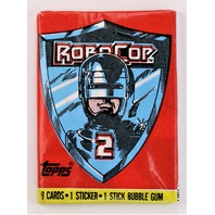 Vintage Topps RoboCop 2 Baseball Trading Cards Wax Pack