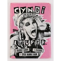Vintage 1985 Topps Cyndi Lauper Trading Cards Wax Pack 80's Music Girls Just Want To Have Fun