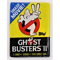 Vintage 1989 Topps Ghost Busters 2 Trading Cards Wax Pack 80's Ghostbusters