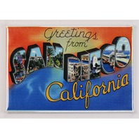 Greetings From San Diego California Postcard FRIDGE MAGNET Padres Chargers