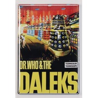 Dr. Who and The Daleks Movie Poster FRIDGE MAGNET Sci-Fi