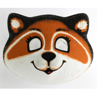 Vintage Collegeville Hallmark Rick Raccoon Halloween Mask 1981 80's Shirt Tales Y250