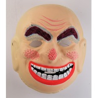 Vintage Topstone Smiling Creepy Man Halloween Mask 1980s Y248