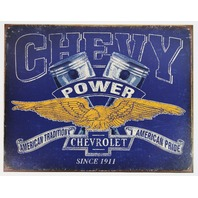 Chevy Power American Pride Tin Metal Sign Camaro Chevrolet Silverado Corvette Nova Chevelle Impala D67