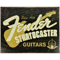 Fender Stratocaster Guitars Tin Metal Sign Guitar Amp Twin Reverb Telecaster D47