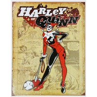 Harley Quinn Tin Metal Sign DC Comics Batman Joker Birds of Prey Suicide Squad Comic D89