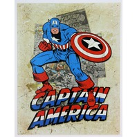 Marvel Comics Captain America Avengers Tin Metal Sign Spiderman Thor Hulk Iron America D95