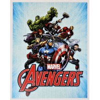 Marvel Avengers Tin Metal Sign Spiderman Thor Hulk Iron Man Captain America D100
