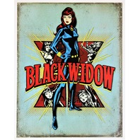 Marvel Avengers Black Widow Tin Metal Sign Spiderman Thor Hulk Iron Man Captain America D98