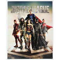 DC Comics Justice League Tin Metal Sign Wonder Woman Aquaman Batman Superman D114