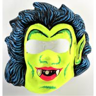 Vintage Neon Vampire Dracula Halloween Mask Vampiro Monster 1960s 1970s