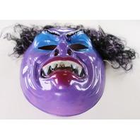 Vintage Purple Vampire Dracula Monster Halloween Mask Vampiro 1980 Ben Cooper