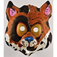 Vintage Topstone Alley Cat Feline Halloween Mask 80's