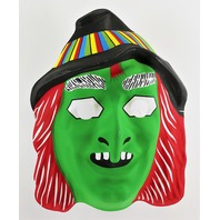 Vintage Green Witch Halloween Mask Ben Cooper Collegeville Y172