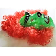 Vintage Ben Cooper Hairy Scary Mask Green Beast Monster Halloween Mask 1980