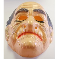 Vintage Ben Cooper Old Man Halloween Mask 1980 Grandpa Elderly Man