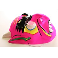 Vintage Devil Demon Halloween Mask 80's 90's Toppstone Pink Monster