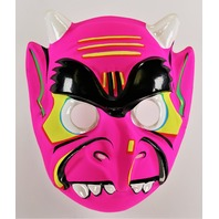Vintage Devil Demon Halloween Mask 80's 90's Toppstone Pink Monster