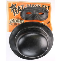 Vintage 1960s Star Band Co Hat and Mask set Halloween Mask 50's 60's Y152