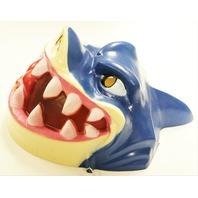 Vintage Cesar Street Sharks Halloween Mask 96 Shark 1990s Cartoon Y175