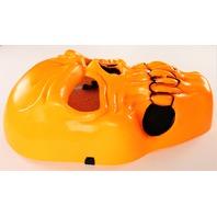 Vintage Neon Orange Skull Halloween Mask Skeleton