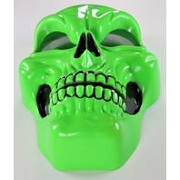 Vintage Neon Green Skull Halloween Mask Skeleton