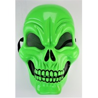 Vintage Neon Green Skull Halloween Mask Skeleton