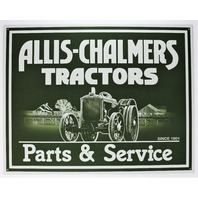 Allis-Chalmers Tractors Parts and Service Tin Metal Sign Model B WC WD D15 D17 Harvester