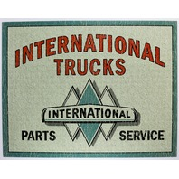 International Trucks Parts and Service Tin Metal Sign IH Harvester Scout 2