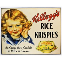 Vintage Styled Kelloggs Rice Krispies Treats Ad Tin Metal Sign