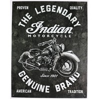 The Legendary Indian Motorcycle Tin Metal Sign Scout Sixty Roadmaster Dark Horse