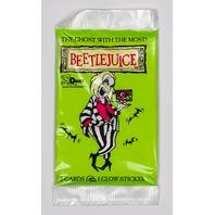 Beetlejuice Vintage Trading Cards ONE Pack 1990 Dart Movie