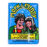 Mork and Mindy Vintage Trading Cards ONE Wax Pack 1979 Topps Robin Williams