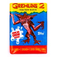 Gremlins 2 Vintage Trading Cards TWO Wax Packs 1990 Topps Gizmo Movie
