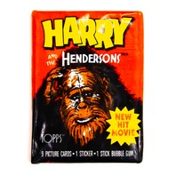 Harry and the Hendersons Vintage Topps Trading Cards ONE Wax Pack 1987 Bigfoot